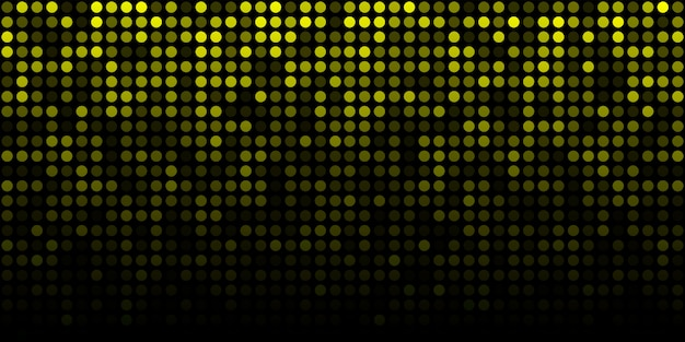 Abstracte gele technologie horizontale lichtgevende achtergrond. kleurovergang digitale gloed pixel