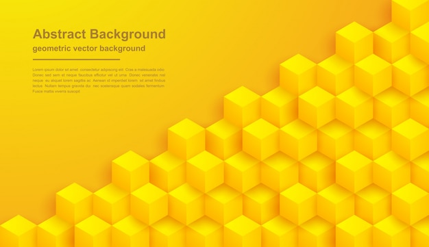 Abstracte gele textuurachtergrond met hexagon vormen.