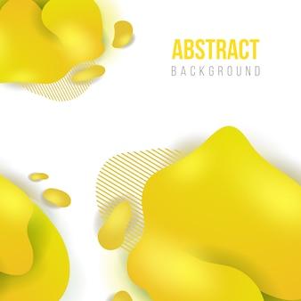 Abstracte gele vloeibare achtergrond