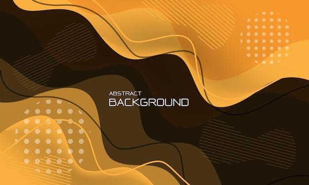 Abstracte gele vloeibare lijn geometrisch ontwerp creatieve technologie futuristische achtergrond vector