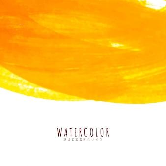 Abstracte gele waterverfachtergrond