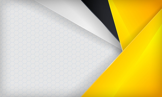 Abstracte gele, witte en zwarte overlappingsachtergrond. moderne sjabloon.