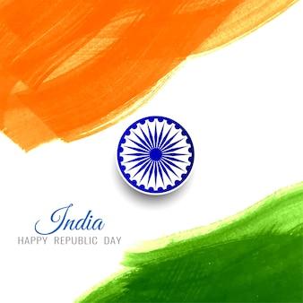 Abstracte gelukkig republiek dag indiase vlag achtergrond