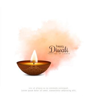 Abstracte gelukkige diwali-achtergrond van de festival zachte kleur