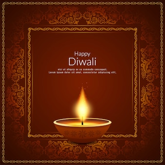 Abstracte gelukkige diwali indiase festival achtergrond