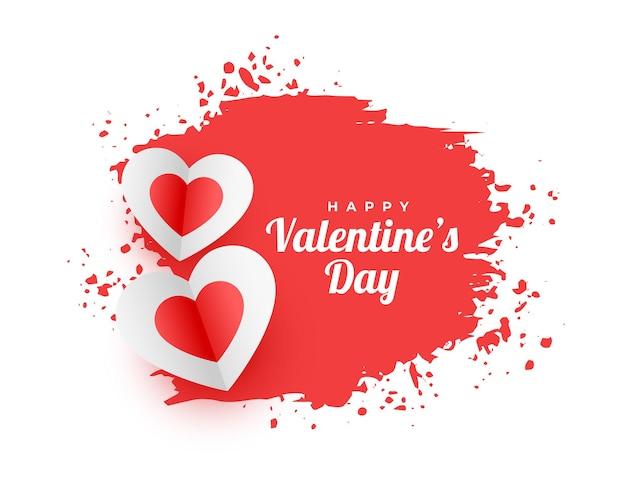 Abstracte gelukkige valentijnsdag aquarel achtergrond