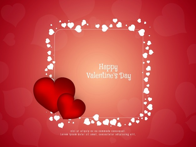 Abstracte gelukkige valentijnsdag stijlvolle achtergrond