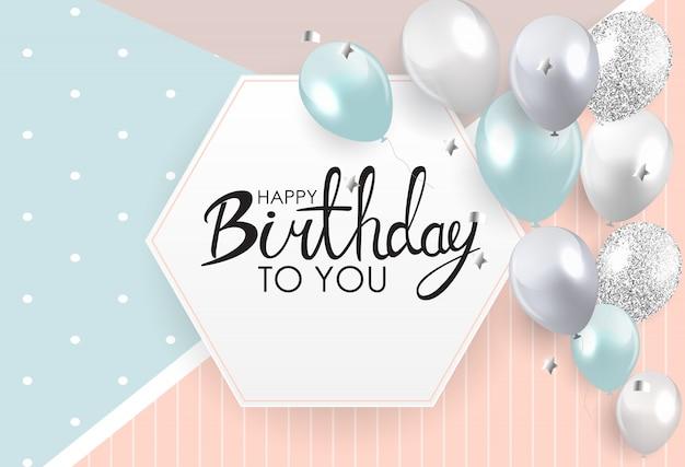 Abstracte gelukkige verjaardag kaart sjabloon illustratie