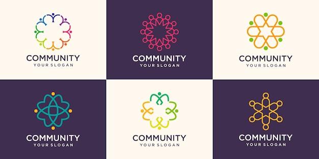 Abstracte gemeenschap logo ontwerpsjabloon.