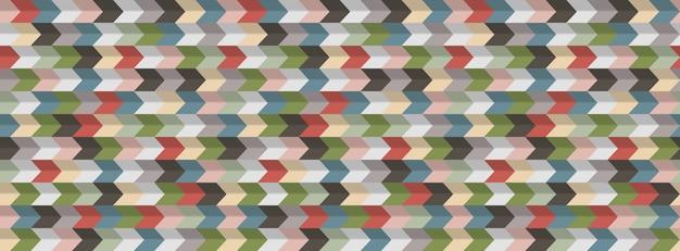 Abstracte geometrische achtergrond, 3d-effect, retro kleuren