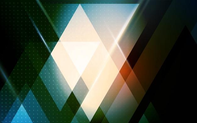 Abstracte geometrische achtergrond met driehoekige vorm Premium Vector