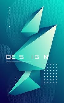 Abstracte geometrische achtergrond met driehoekige vormen, kleurrijke minimale dekking