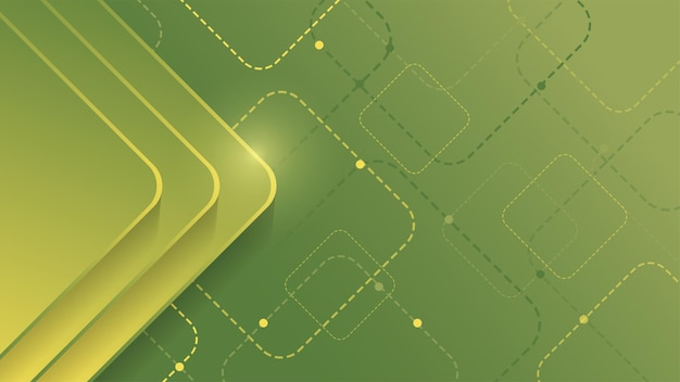 Abstracte geometrische achtergrond met groen gradiëntvierkant op groene background