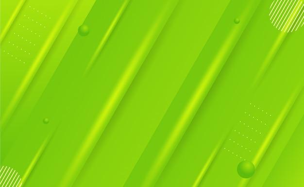 Abstracte geometrische achtergrond met groene gradatie - snelheidseffect - wallpaper dekstop