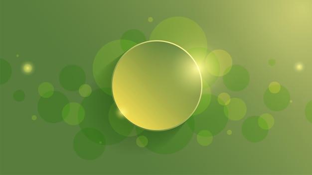 Abstracte geometrische achtergrond met groene gradiëntcirkelachtergrond