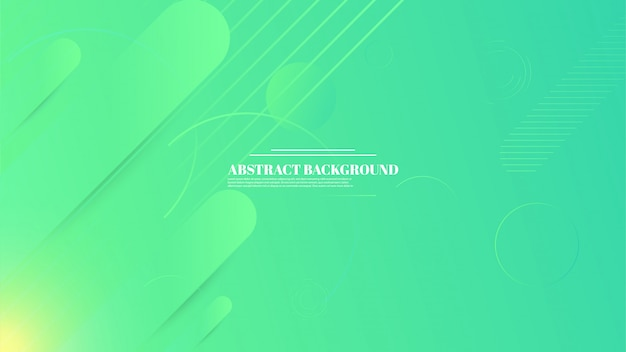Abstracte geometrische achtergrond met kleurovergang groene kleur