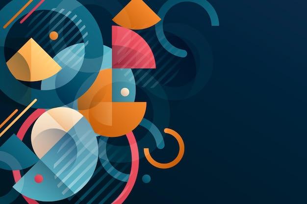 Abstracte geometrische achtergrond met kleurovergang Gratis Vector
