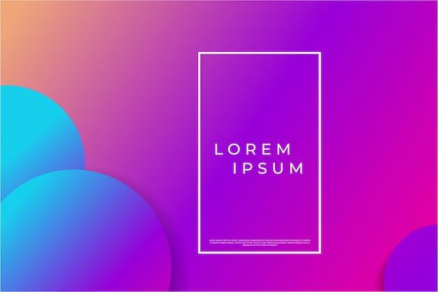 Abstracte geometrische achtergrond met paarse en blauwe gradiëntcirkels