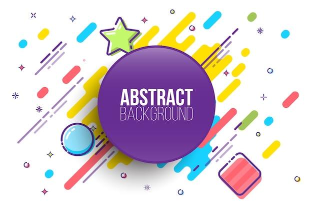 Abstracte geometrische achtergrond met platte ontwerpelementen.