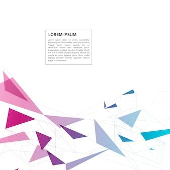 Abstracte geometrische achtergrond met technostijl driehoek