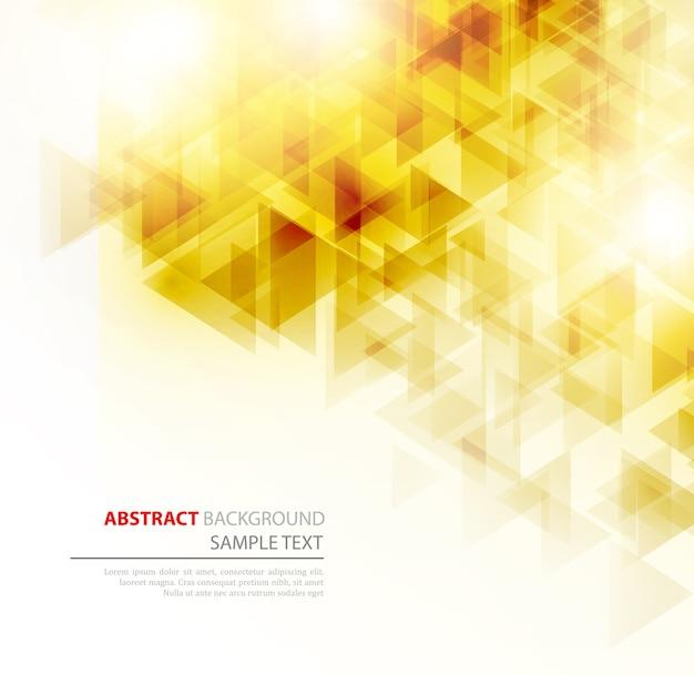 Abstracte geometrische achtergrond met transparante driehoeken. . brochure ontwerp