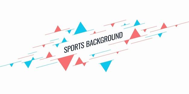 Abstracte geometrische achtergrond sportposter met de platte figuren