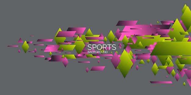 Abstracte geometrische achtergrond sportposter met geometrische figuren