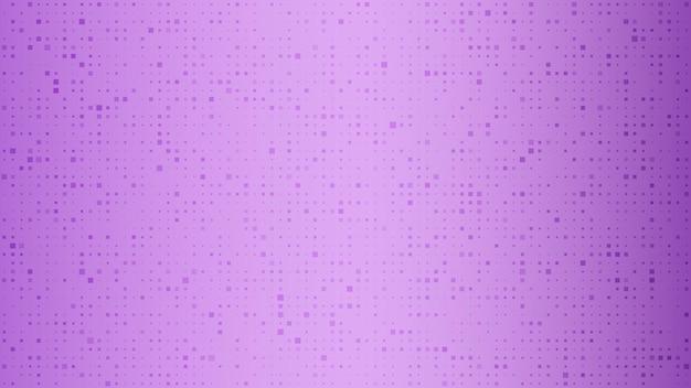 Abstracte geometrische achtergrond van vierkanten. paarse pixelachtergrond met lege ruimte. vector illustratie.
