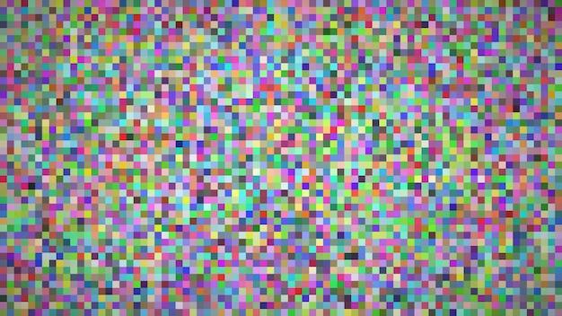 Abstracte geometrische achtergrond van vierkanten. veelkleurige pixelachtergrond met lege ruimte. vector illustratie.