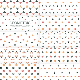 Abstracte geometrische achtergronden patronen collectie
