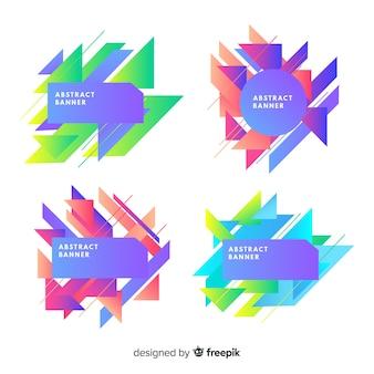 Abstracte geometrische banner collectie