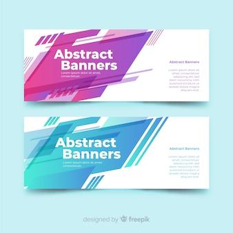 Abstracte geometrische banner
