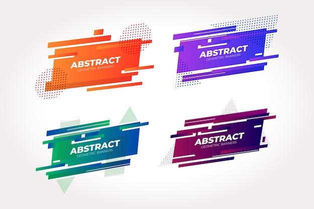 Abstracte geometrische banners