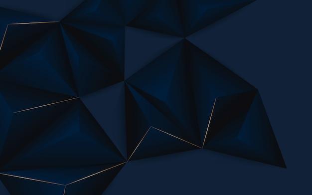 Abstracte geometrische blauwe en zwarte kleur als achtergrond