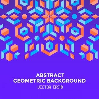 Abstracte geometrische blauwe oranjerode juwelen violette achtergrond