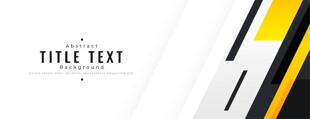 Abstracte geometrische brede banner met tekstruimte