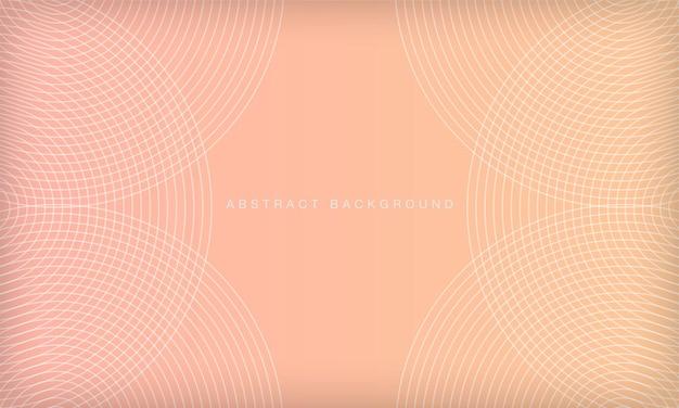 Abstracte geometrische cirkel patroon achtergrond met kleurovergang pastel kleur moderne zachte ontwerpsjabloon