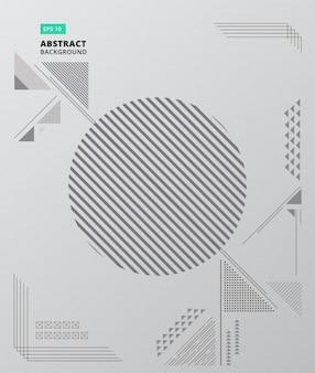 Abstracte geometrische compositie vormt moderne achtergrond