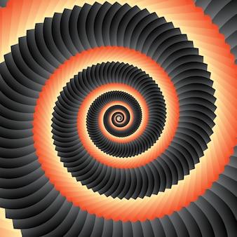 Abstracte geometrische concentrische wervelingsachtergrond