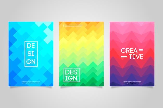 Abstracte geometrische cover-collectie