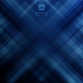 Abstracte geometrische diagonale lijnen blauwe achtergrond.