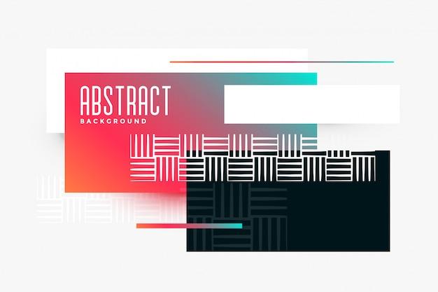 Abstracte geometrische driehoek samenstelling levendige banner