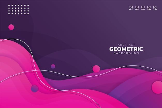 Abstracte geometrische dynamische vorm overlappende gradiënt paars roze achtergrond banner