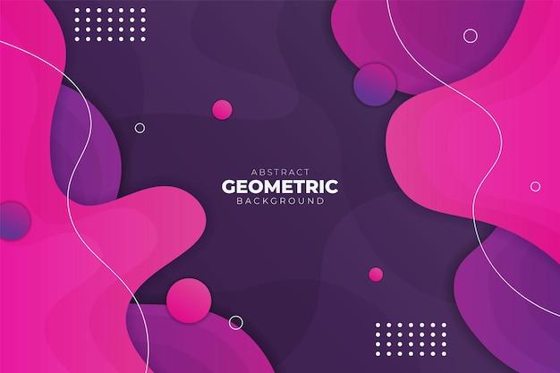 Abstracte geometrische dynamische vorm overlappende zachte gradiënt paars roze achtergrond banner concept