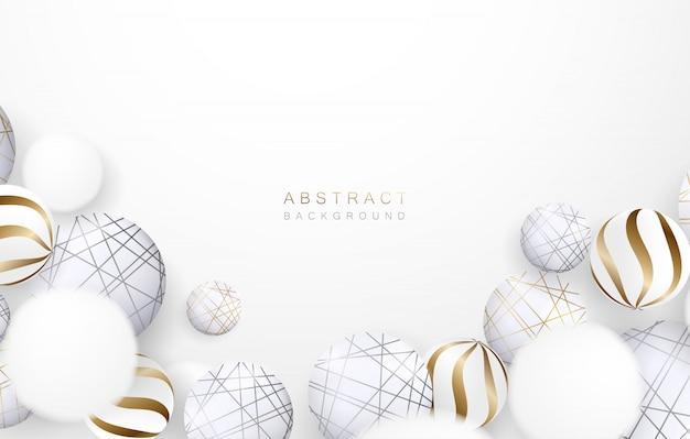 Abstracte geometrische elementen witte of grijze achtergrond.