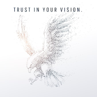 Abstracte geometrische en vertex van adelaar en visie van technologie en futuristisch concept, bald eagle of american, eps-10 vector