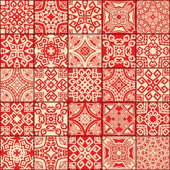 Abstracte geometrische etnische naadloze texturen