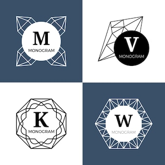 Abstracte geometrische juweelemblemen