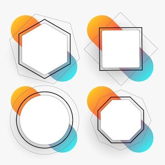 Abstracte geometrische kaders geplaatst malplaatje