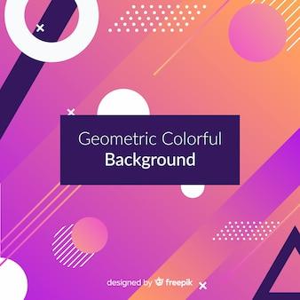Abstracte geometrische kleurrijke achtergrond